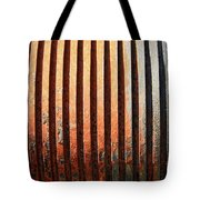 Weathered Metal With Rows Tote Bag