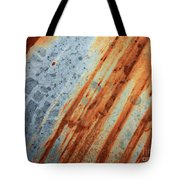 Weathered Metal With Stripes Tote Bag