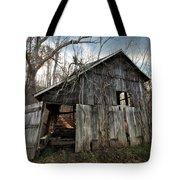 Weathered Old Abandoned Barn Tote Bag