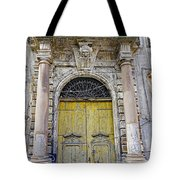 Weathered Old Artistic Door On A Building In Palermo Sicily Tote Bag