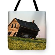 Weathered Old Farm House In Scenic Saskatchewan Tote Bag