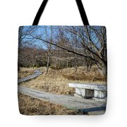 Weathered Path Through Dunes Tote Bag