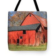 Weathered Red Barn Tote Bag by David Letts