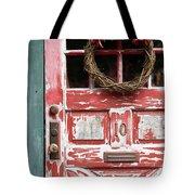 Weathered Red Door 3 Tote Bag
