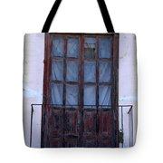 Weathered Red Wood Door Tote Bag