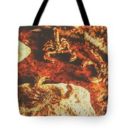 Weathered Scorpion Art Tote Bag