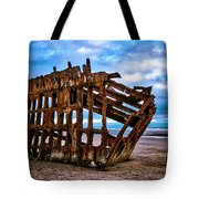 Weathered Shipwreck Tote Bag