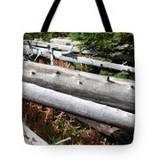 Weathered Trees Fallen Down Within Yellowstone National Park Tote Bag
