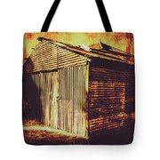 Weathered Vintage Rural Shed Tote Bag