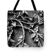Weathered Wall Art In Black And White Tote Bag