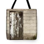 Weathered White Wood Door Tote Bag