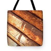Weathered Wood Log Cabin Tote Bag