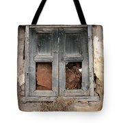 Weathered Wood Window Tote Bag