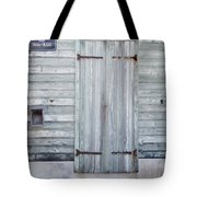Weathered Wooden Door In France Tote Bag