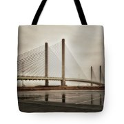 Weathering Weather At The Indian River Inlet Bridge Tote Bag