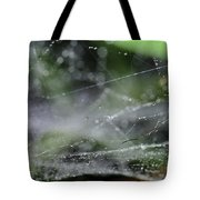 Web After Rain 2 Tote Bag