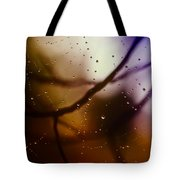 Web With Droplets Tote Bag