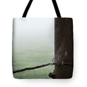 Webs And Dew Tote Bag
