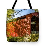Webster/dick Huffman Covered Bridgesw Of Putnamville, Washingto Tote Bag