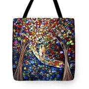 Wedding In The Park Tote Bag