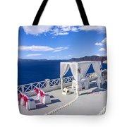 Wedding On The Greek Isles Tote Bag