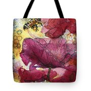 Wee Bees And Poppies Tote Bag