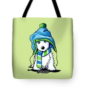 Wee Winter Westie Tote Bag
