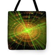 Weed Art Green And Golden Light Beams Tote Bag