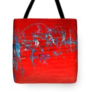 Weeds Abstract Tote Bag