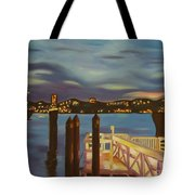 Weehawken From Pier 78 Tote Bag by Milagros Palmieri
