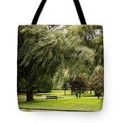 Weeping Willow Trees On Windy Day Tote Bag