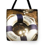 Welcome Aboard Nautical Paradise Tote Bag