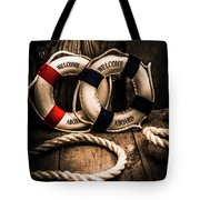 Welcome Aboard The Dark Cruise Line Tote Bag