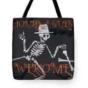Welcome Ghoulish Guests Tote Bag