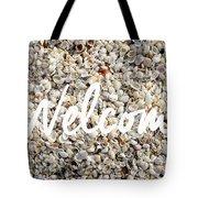 Welcome Seashell Background Tote Bag