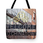 Welcome To Chinatown Sign In Manhattan Tote Bag