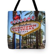 R.i.p. Welcome To Downtown Las Vegas Sign Day Tote Bag