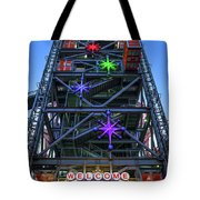 Welcome To Downtown Las Vegas Sign On Slotzilla Tote Bag