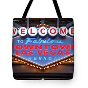 Welcome To Downtown Las Vegas Sign Slotzilla Tote Bag