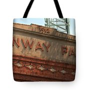 Welcome To Fenway Park Tote Bag