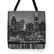 Welcome To Penn's Landing Bw Tote Bag