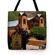 Welcome To Santuario De Chimayo Tote Bag