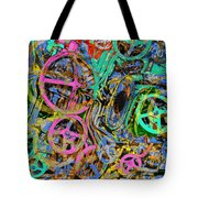 Welcome To The Machine Green Tote Bag