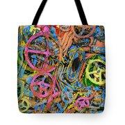 Welcome To The Machine Pink Orange Tote Bag