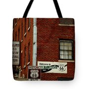 Welcome To The Main Street Of America Tote Bag