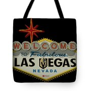 Welcome To Vegas Knights Sign Digital Drawing Tote Bag