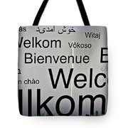 Welcome Wall Tote Bag
