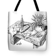 Welcoming At Le Coin Retro In Le Thor France Tote Bag