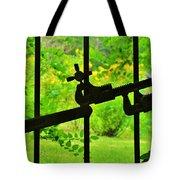 Welded Garden Gate Tote Bag