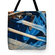 Well Used Fishing Boat Tote Bag